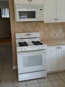GE Gas Stove and Over-the-Range Microwave