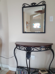 Matching Side Table and Mirror
