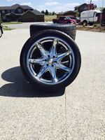 23 inch Ecsta rims and Kumho tires