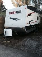 Toy hauler. Track and trail 1/2 ton towable