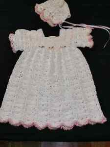 Christening Gown...Hand crocheted ..BEAUTIFUL