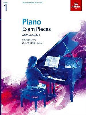 ABRSM Piano Exam Pieces Book Only 2017 - 2018, Grade 1 - Same Day P+P