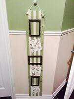 Picture frames and growth chart