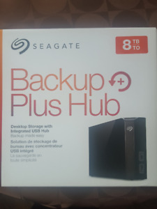Seagete 8TB External Hard Drive - Like New with Box