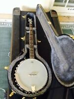 Banjo and case for sale