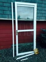 "34"" storm door with hidden/retractable screen"