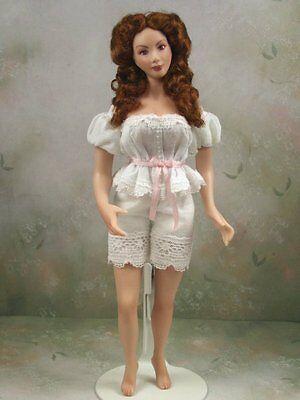 1:12th scale Dollhouse Miniature Victorian/Edwardian Woman Doll by Terri Davis