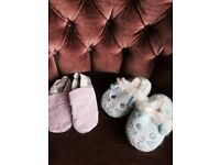 12-18 month shoes and brand new monsoon slippers
