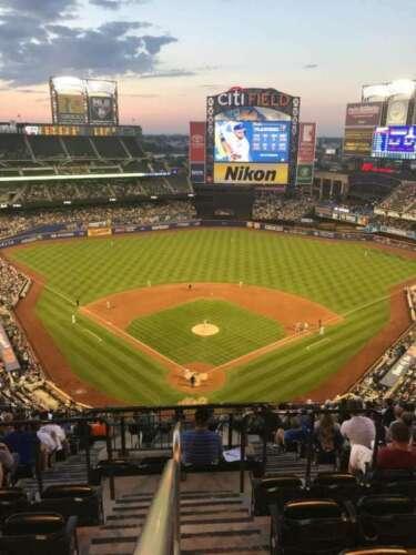 1-4 Los Angeles Dodgers @ New York Mets 8/13/21 Tickets 2021 Sec 515 Aisle Citi