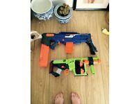 2 nerf guns