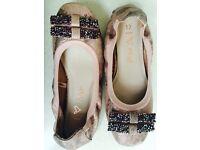 Next Girls Pink Ballet Pumps Size 12