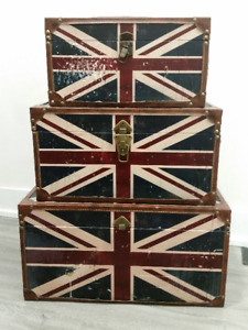 Union Jack Nesting Trunks - 3 Set - $35 OBO
