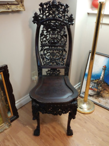 Hand carved antique chinese rosewood chair EstateSale BEST OFFER