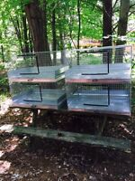 4 stackable rabbit cages for sale