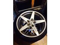 Very Rare and genuine BMW MVR Magnum alloys and tyres 19x8.5 E36 E46 E90 E92 E93 M3
