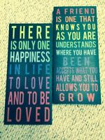 Inspirational canvas hangings