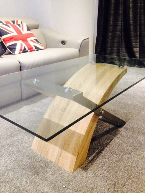 evolution glass coffee table from furniture village | in ruislip