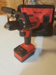 Snap On 18v Monster Lithium Drill, 2 Batteries, Charger & Bits