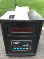 Portable Infrared Wood Cabinet Heater 1500W with Remote