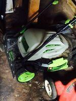 Electric lawn mower lawn master