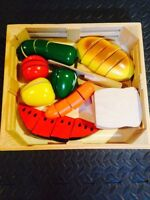 Melissa & Doug wooden food set
