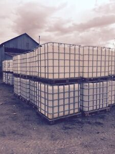 New shipment 1000 LT water totes Wooden skid style London Ontario image 2