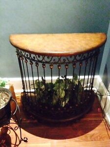 Hooker Furniture Half Round Demilune Metal Table FOR SALE