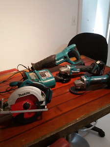 Makita 18V Cordless Power Tools- Contractor Downsizing