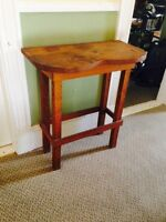 """Vintage Pine Table / Stand. 28"""" x 14.5"""" x 31"""""""