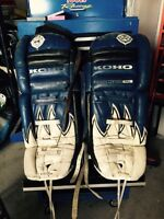 Goalie pads for back 40