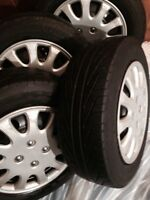 4- MICHELIN HYDROEDGE 185 65 14 TIRES & RIMS PACKAGE