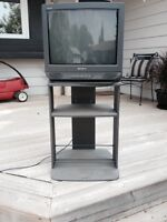 20 inch Sony tube tv with stand