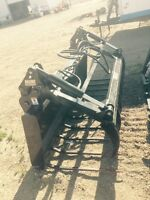 Manure fork with utility grapple