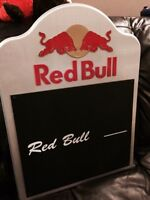 RED BULL 24 inch Sign New can use chalk on board