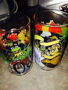Jim Henson 1981 collectable glasses