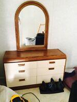 Free Matching dresser mirror and nightstand.