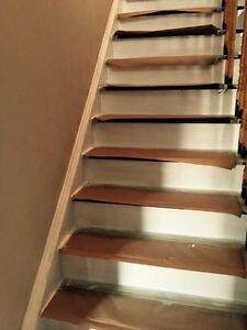 Staircase Refinishing | Stain and Paint Oakville / Halton Region Toronto (GTA) image 3
