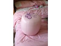 Girls pink pouf