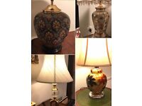 4 X Table Lamps (selling individually)