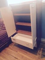 Great Condition Single Bedroom Set - Bed and Tall Dresser!!
