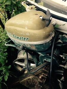 5 hp Scott a water and 2 hp old Briggs outboard