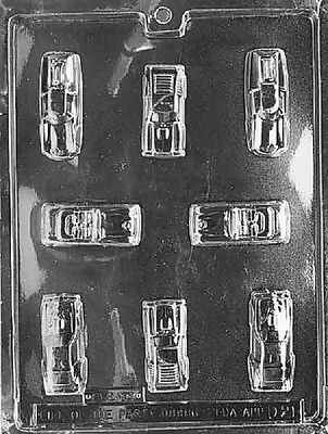 D021 Cars Chocolate Candy Soap Mold with Instructions - Chocolate Cars