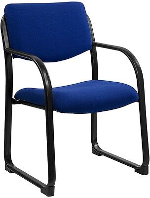 Heavy Duty Blue Color Fabric Reception Office Side Chair - Waiting Room Chair