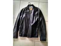 Hugo boss orange leather jacket 42r
