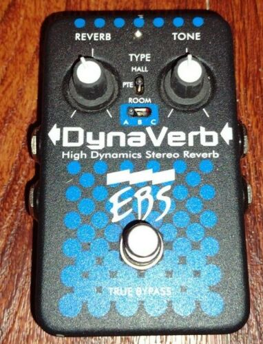 EBS DynaVerb High Dynamics Stereo Bass Reverb Effects Pedal Free Shipping