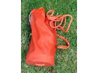 Throw bag floating rope for canoe kayak rescue