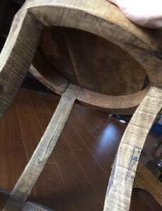 Very cool wood end table - $40 firm.