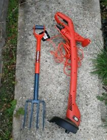 Corded grass trimmer - digging fork offered