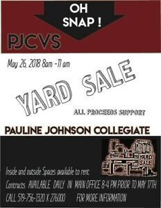 Pauline Johnson CVS YARD SALE