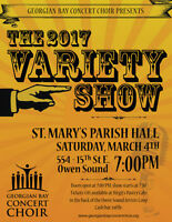Georgian Bay Concert Choir presents: Variety Show 2017